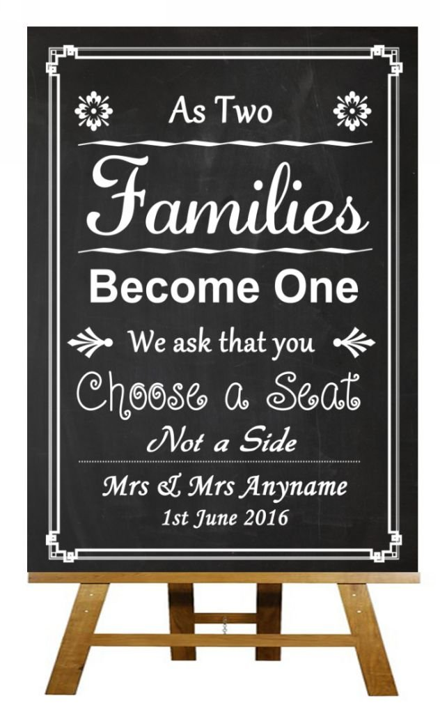 2b746f943716c3 A3 Vintage Chalkboard Pick A Seat Not A Side Personalised Wedding Sign  Poster  Amazon.co.uk  Office Products