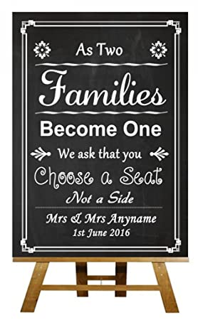 402c45c58666fe A3 Vintage Chalkboard Pick A Seat Not A Side Personalised Wedding Sign  Poster