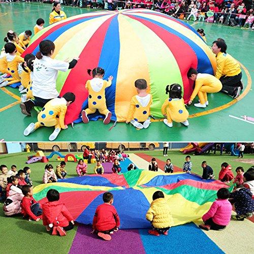 85 Off Htianc Juego De Paracaidas Del Arco Iris Para Ninos Juegos