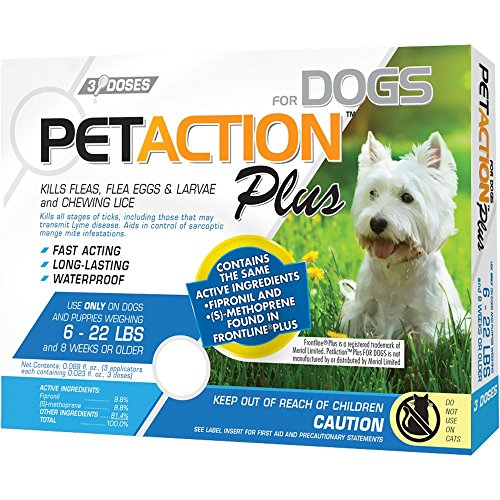 PetAction Plus Flea and Tick Treatment 61mFt5liFVL