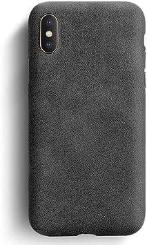 OPXZPM Caja del teléfono móvil X XS MAX Estuche para teléfono Cuero Cuero empresarial Estuche para teléfono Funda Trasera de Ante, Negro, para iphoneXS: Amazon.es: Electrónica