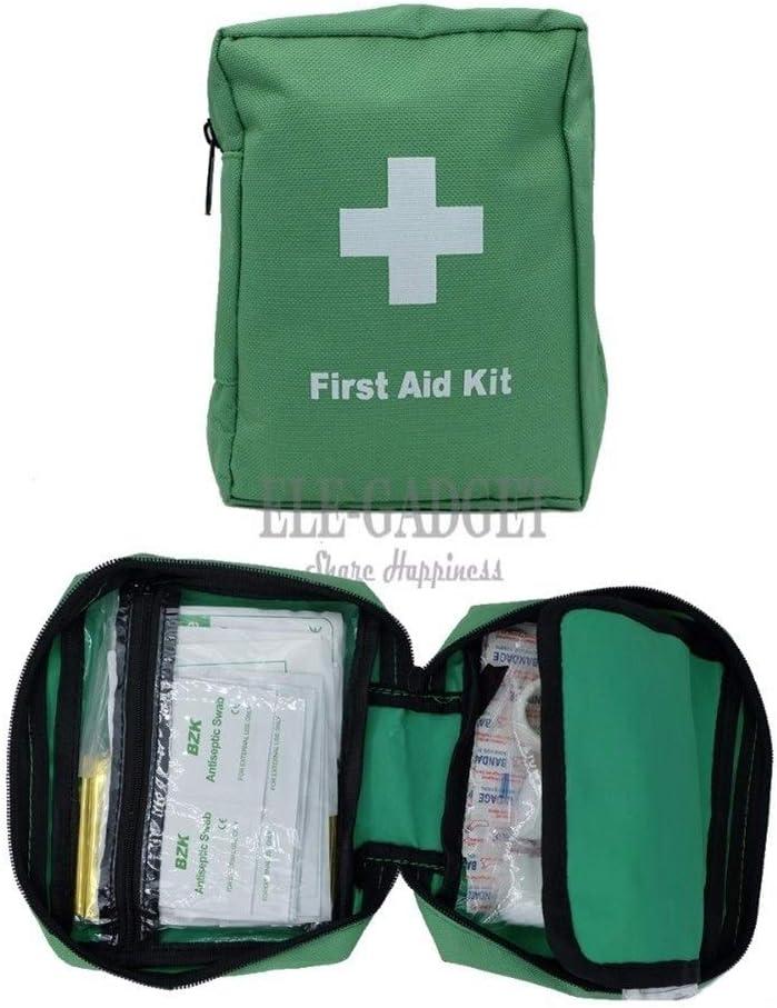 Aid Kit 100 Artículos/Kits de ayuda establecidos exterior portátil, verdes impermeables for los kits de primeros tiritas Family Travel TRATAMIENTO MÉDICO DE EMERGENCIA (color : Verde)