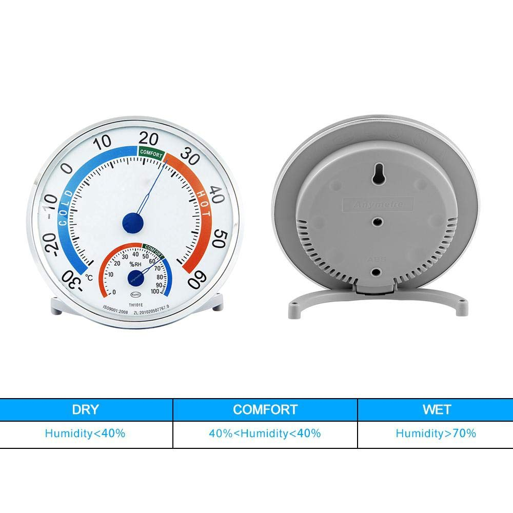 Decorative Precise Temp Humidity Gauge Analog Monitor Weather Meter For Cigar//Reptile Incubator//Greenhouse//Baby Room Volwco Indoor Outdoor Hygrometer Thermometer