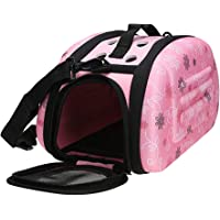 Wewin Travel Pet Dog Carrier Puppy Cat Carrying Outdoor Bags for Small Dogs Shoulder Bag Soft Pets Dog Kennel Pet Products (Pink Small)