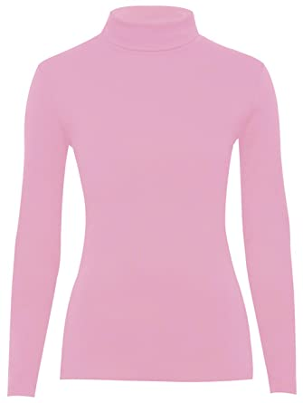 e2d9988c5d2c75 Ladies Long Sleeve Turtle Polo Neck TOP Womens HIGH ROLL Neck TOP Jumper  8-26: Amazon.co.uk: Clothing