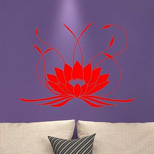 jiuyaomai Mandala 3D Lotus Wall Sticker PVC Yoga extraíble ...