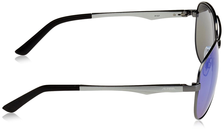 Alpina 107 Lunettes de Soleil Style Pilote Gris Gris - Gun-Matt/Green-Mirror Taille Unique YGxvKP