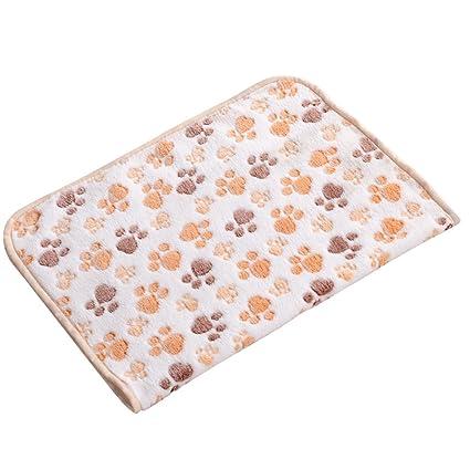 UEETEK Manta de mascota para perros Gatos, cómodos Manta de felpa con estampado de patas
