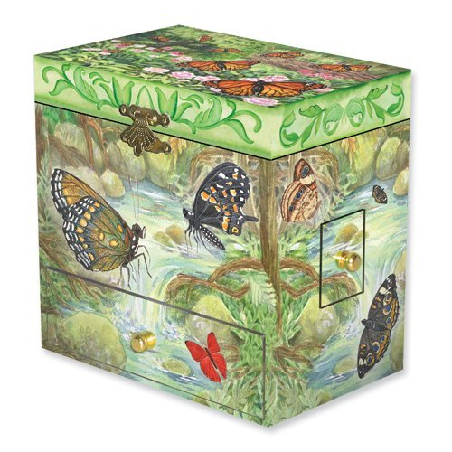 Child's Monarchs Butterfly Musical Jewelry Box