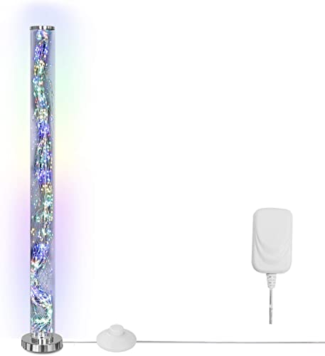 Clear Column Floor Lamp LKUA Modern LED Corner Standing Tube Floor Lamp