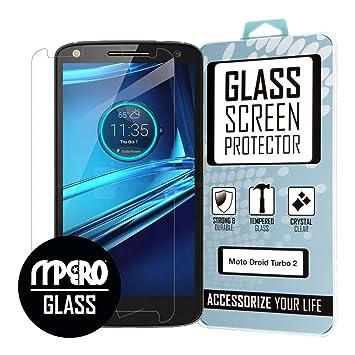 Protector de pantalla Motorola DROID Turbo 2, Vidrio templado 1 unidad: Amazon.es: Electrónica