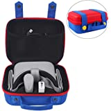 Esimen Travel Carrying Case for Oculus Go Virtual Reality Headset and Controller,Cute and Deluxe,Protective Hard Shell Carry Bag for Oculus Go VR & Accessories