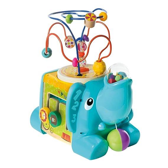 WOOMAX- Elefante de madera con actividades 5 en 1 (Colorbaby 46249 ...