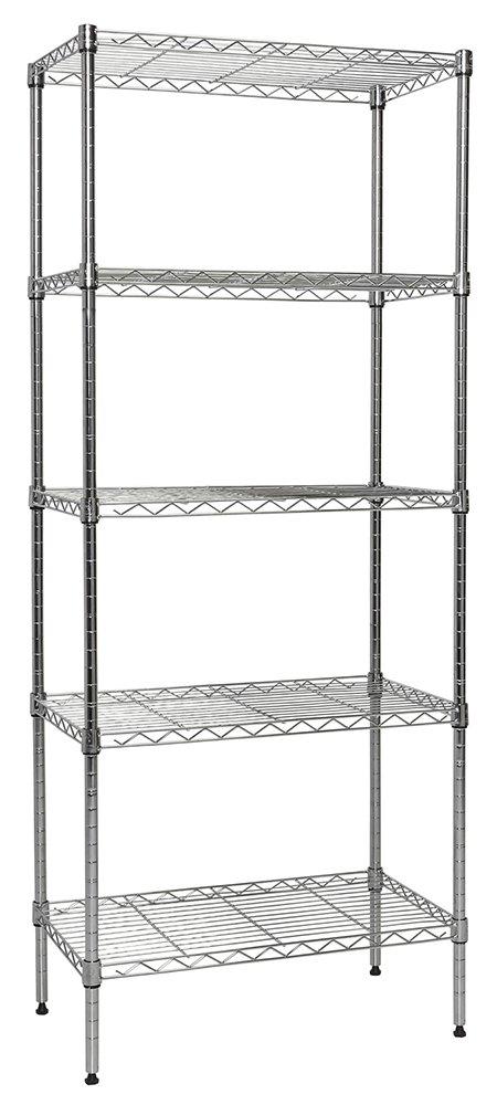 Apollo Hardware Chrome 5-Shelf Wire Shelving 14