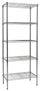 "Apollo Hardware Chrome 5-Shelf Wire Shelving 14""x24""x60"" (Chrome)"