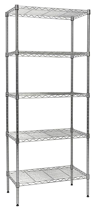 Amazon.com: Apollo Hardware Chrome 5-Shelf Wire Shelving 14\