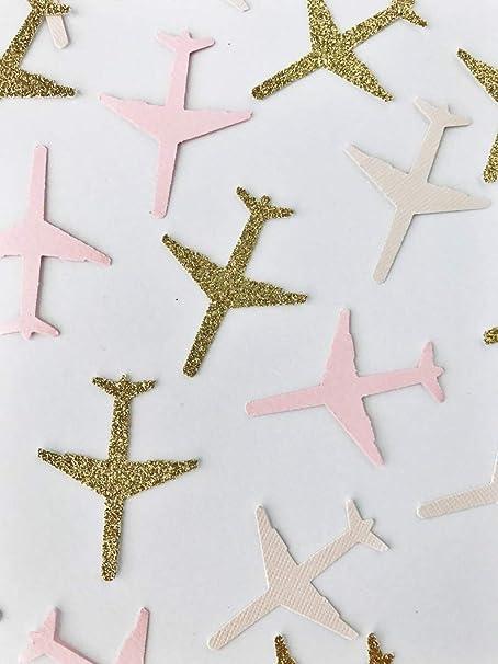 100 Piece-Vintage Airplane Confetti Airplane Birthday