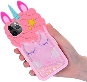 Coralogo for iPhone 11 Pro Silicone Case, 3D Cute Bling Glitter Cartoon Funny Design Character Protective Fashion Kawaii Fun Cover Skin Teens Kids Girls Cases for iPhone 11 Pro 5.8