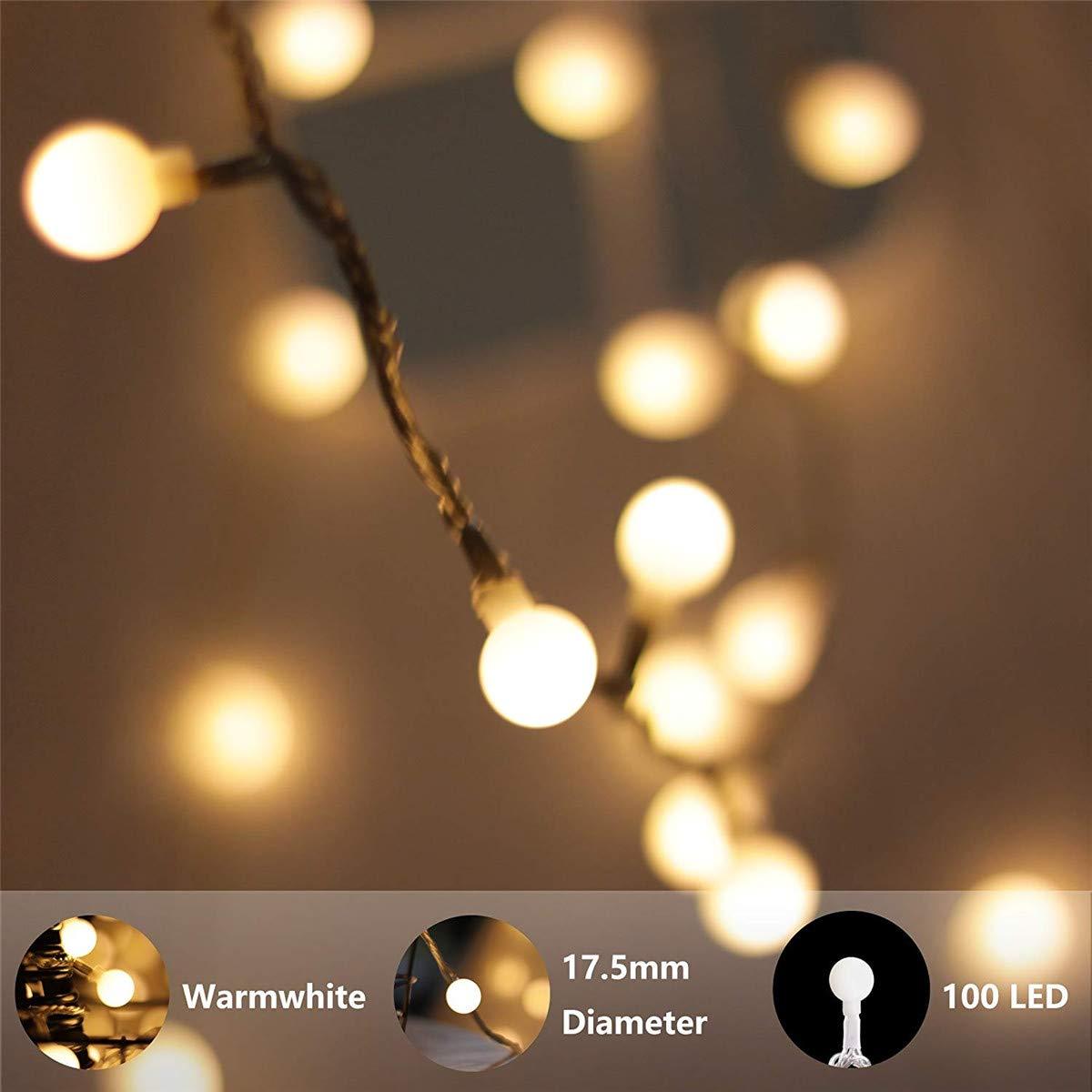 MUMUWU - Guirnalda de Luces LED (100 ledes, 10 m, 220 V, Impermeable): Amazon.es: Hogar