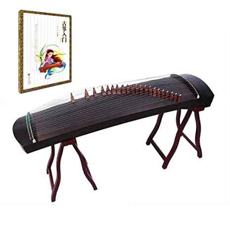 orientalmusicsanctuary profesional negro sándalo viaje Guzheng – incluye libro de inglés Tutorial con DVD