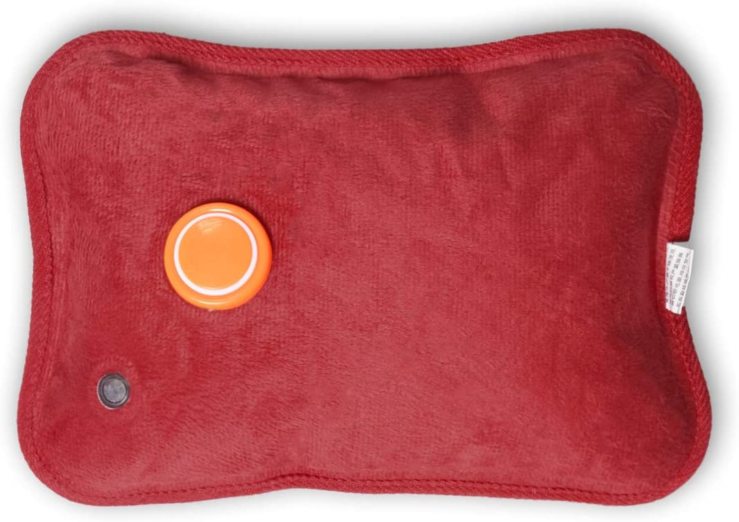 Electric Hot Water Bottle KXF Rechargeable Bed Hand Warmer Massaging Heat Pad with Fluffy Cosy Cover