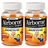 Airborne Orange Flavored Gummies, 63 Count - 1000mg of Vitamin C and Minerals & Herbs Immune Support (Pack of 2)