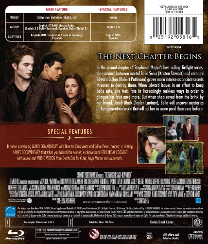 025192058165 - The Twilight Saga: New Moon [Blu-ray] carousel main 1