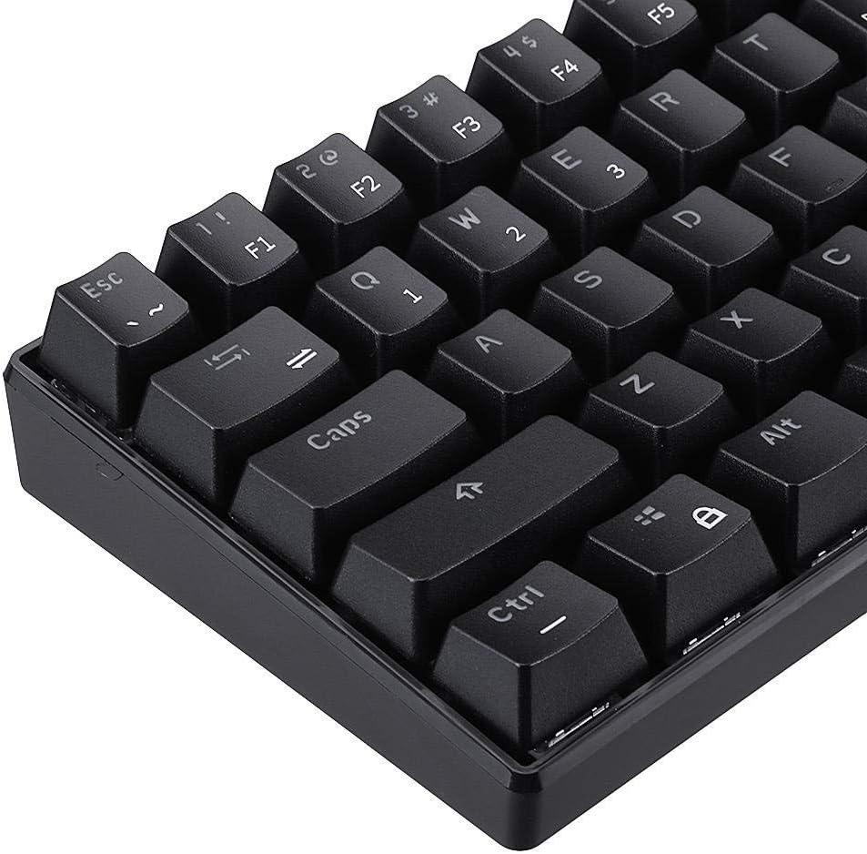 Color : Black, Size : Blue Switch Mechanical Keyboard Keyboard Mechanical Gaming Mode 60/% RGB Mechanical Gaming Gaming Keyboard