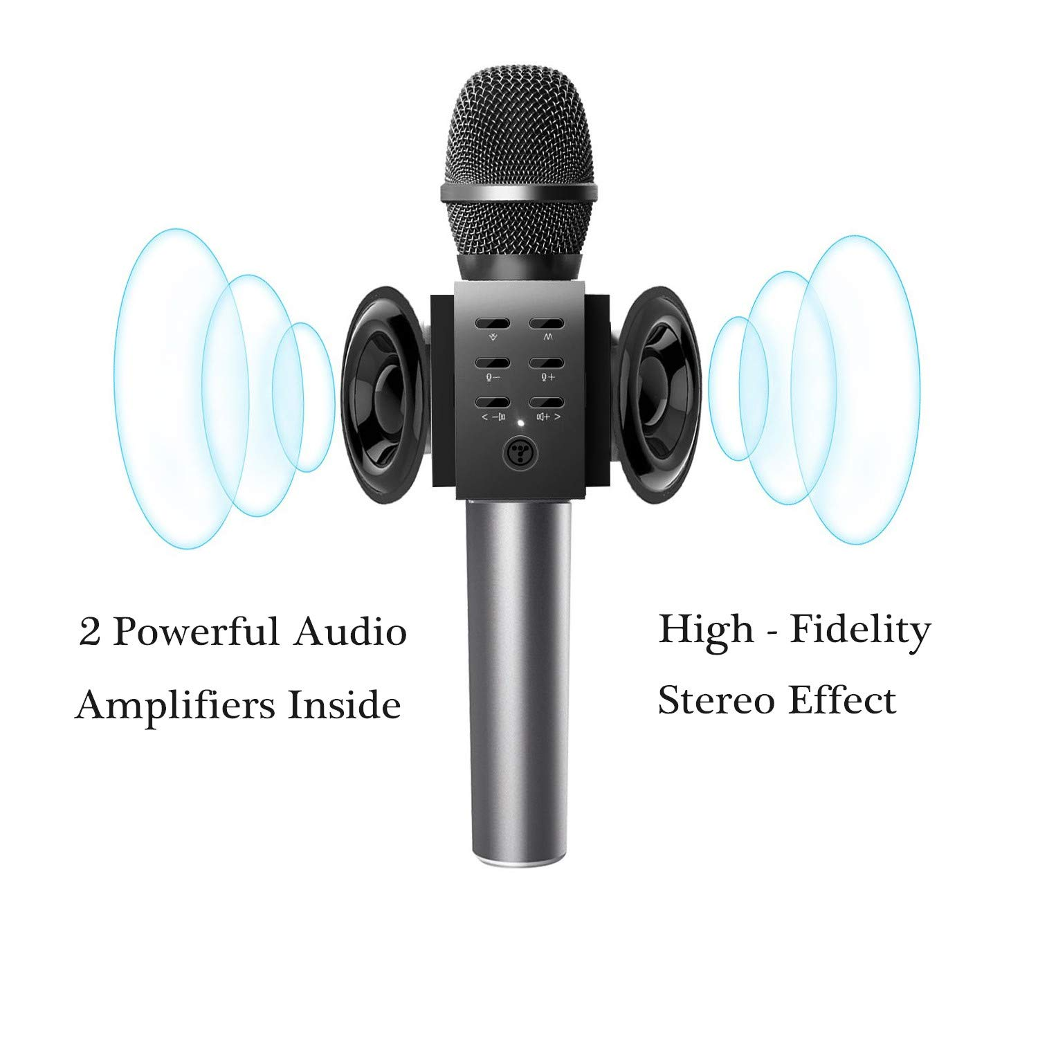 TOSING Wireless Karaoke Microphone for Kids, Top Birthday Party Gifts Ideas for Teens and Adults, Bluetooth Handheld Karaoke Machine, Superior Surrounding, Compatible with iPhone Android Phones by TOSING (Image #3)