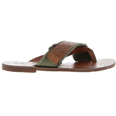 3b6779c497e020 #Replay Maroon Hommes Vert Cuir Été Sandales Chaussures