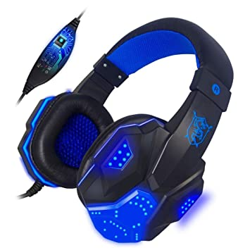 Amazon.com: iusun USB LED de 3,5 mm. Surround Stereo Gaming ...