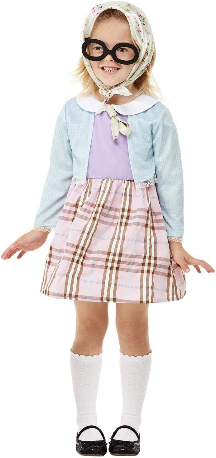 Smiffys Toddler Old Lady Costume Disfraz de anciana para niña ...