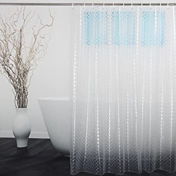 Translucent Shower Curtain 3D Dots Circles Pattern Design By Ufriday Eco Friendly 15