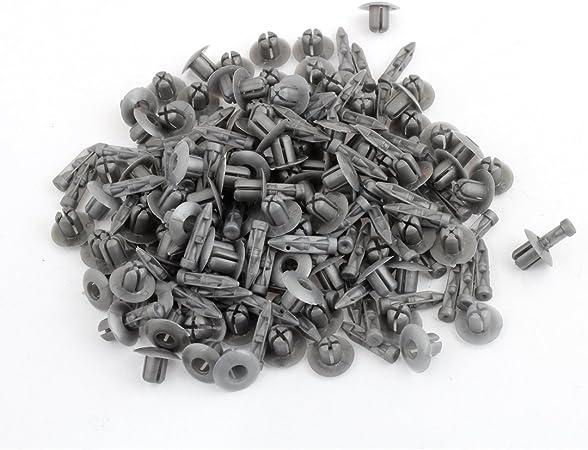 sourcingmap/® 20pz nero auto vite ad espansione rivetti plastica Spruzzo parafango a scatto Clip 8mm