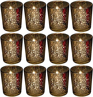 Biedermann & Sons 12 Count Rustic Glass Votive Candle Holders