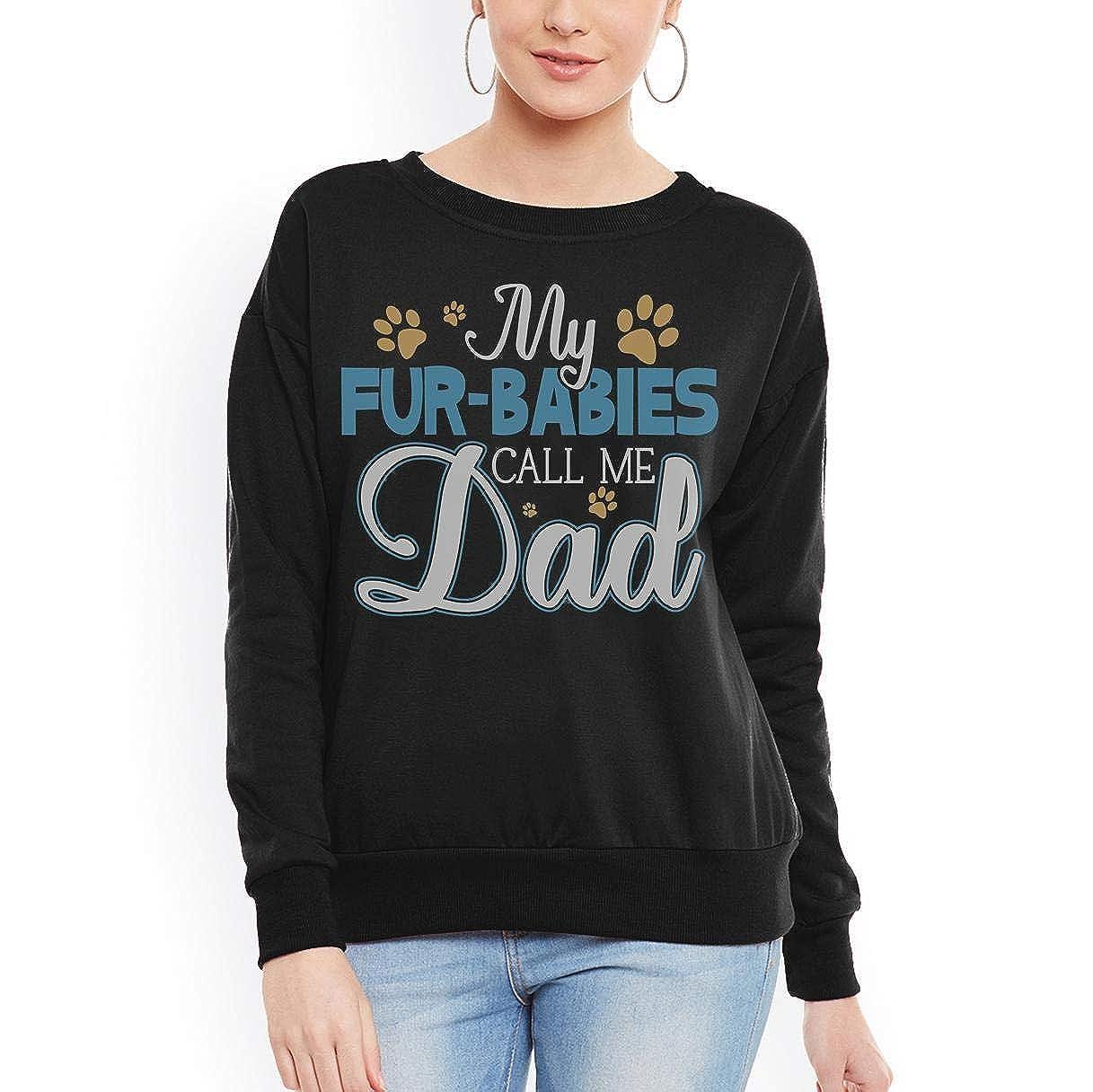 tee My Fur-Babies Call Me Dad Dog Cat Lover Women Sweatshirt