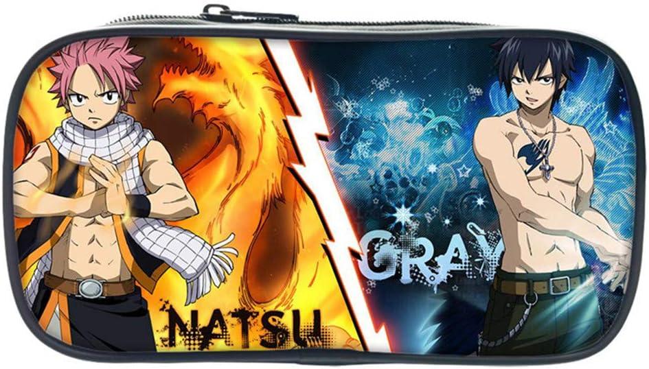 SHIQI-DYMX Fairy Tail Anime Cosplay Alumnos Papelería Caja Niños Lápiz Bolsa Oficina Bolsa De Almacenamiento: Amazon.es: Oficina y papelería