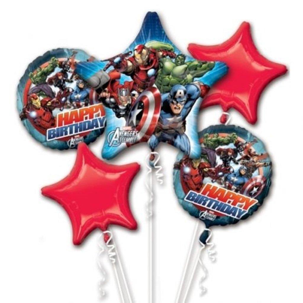 Amazon.com: Vengadores cumpleaños globo Ramo Combo Mylar ...