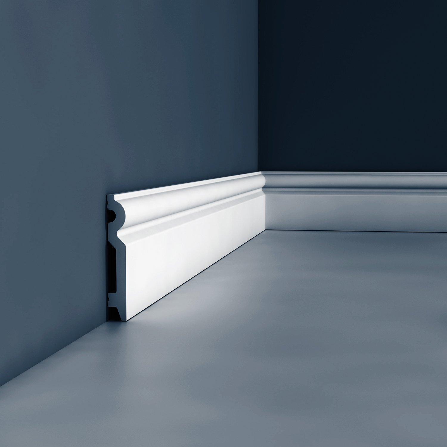 Skirting Orac Decor SX137F AXXENT Flexible moulding decorative moulding modern look white 2m