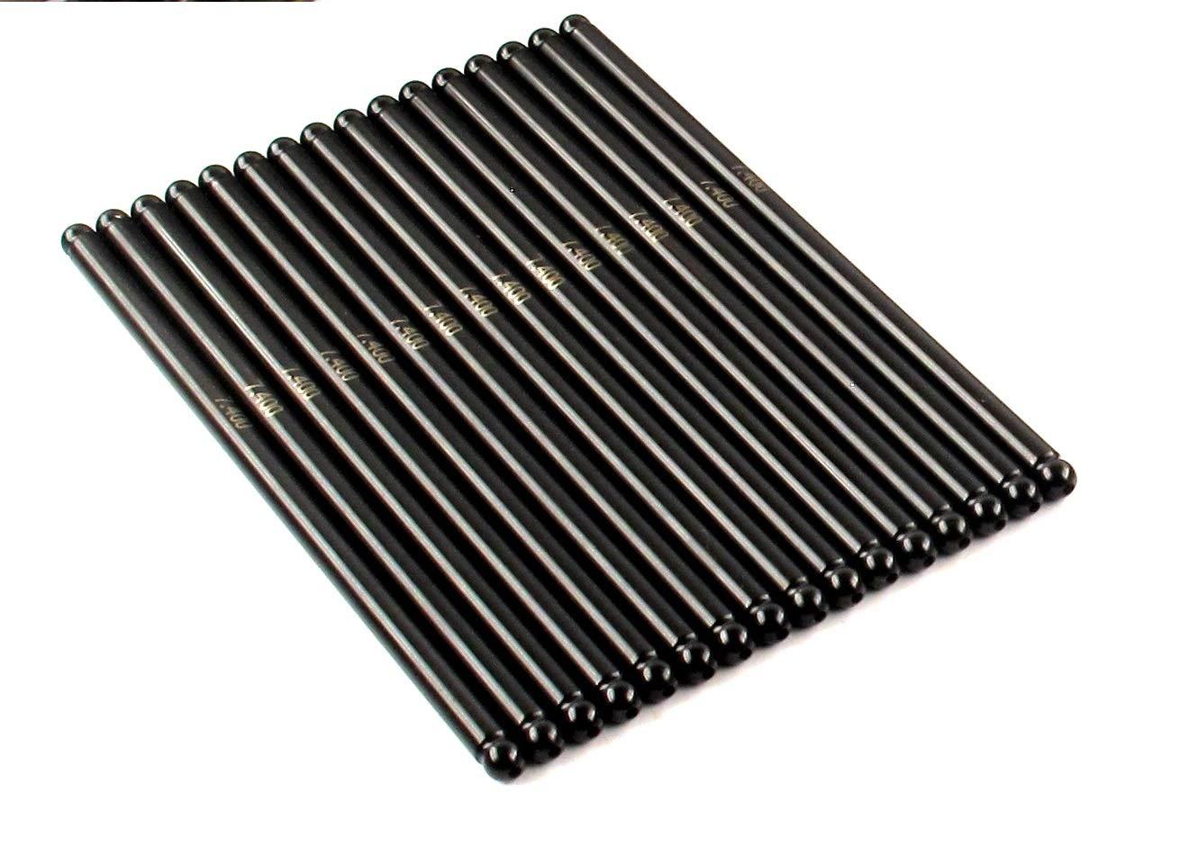 ELGIN Industries (Elgin, IL USA) Heat Treated 1010 Steel High Performance Pushrod Set of (16) compatible with 1999-2016 GM 4.8L, 5.3L,5.7L, 6.0L & 6.2L LS Engines