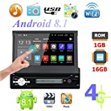 MKChung 7 Inch 1Din Quad Core Android 8.1 Car MP5