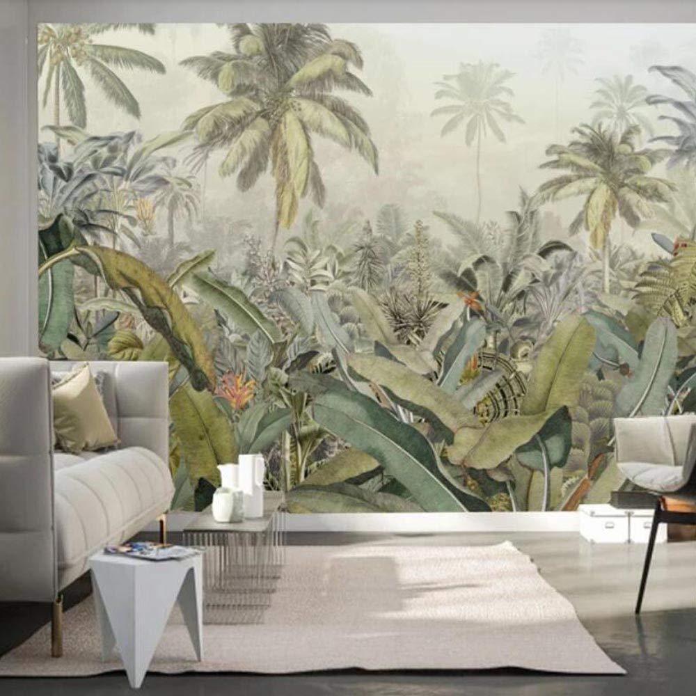 NXMRN Plante Tropicale Feuilles Or Papier Peint Imprim/é Photo Photo Papier Peint Rouleaux D/écoration Murale Peinture Pour Chambre Contact Papier 300Cmx210Cm