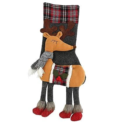 Iraza Bolsas de Calcetines Navidad Pintado y Coloreado Infantiles Navideñas Regalos Originales Navidad Niños (Elk
