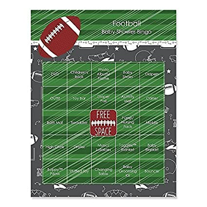 Great End Zone   Football   Baby Shower Game Bingo Cards   16 Count