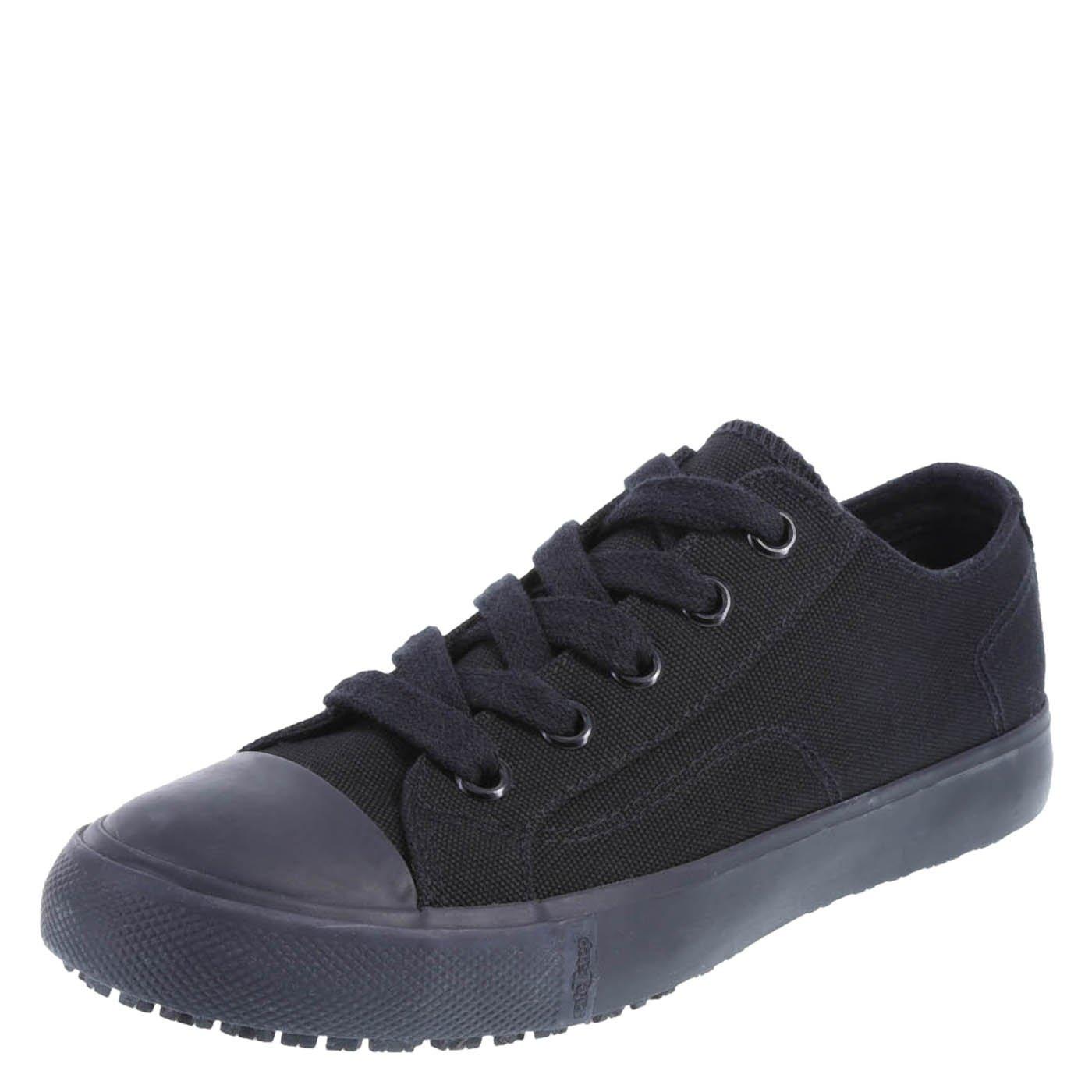 safeTstep Slip Resistant Women's Black Canvas Women's Kick Canvas Oxford 5 Regular