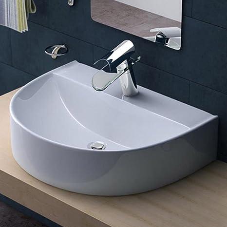counter top lavello in stile moderno per lavandino da cucina bagno incasso 2f