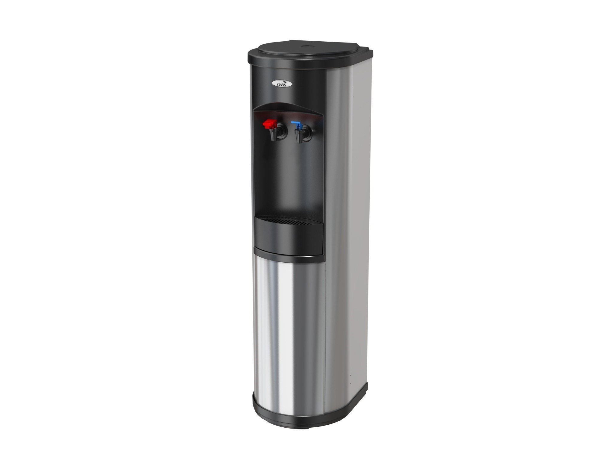 Oasis Artesian Bottleless Water Dispenser Hot & Cold w/ Multi-Stage Filtration or Reverse Osmosis Filtration Complete Package Options (5 Stage EZ Change R/O, Stainless Steel)