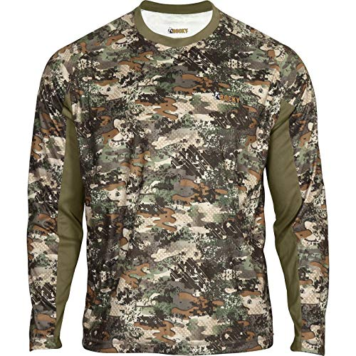Rocky Men's Silent Hunter Long-Sleeve Scent Iq Shirt, Camouflage, X-Large