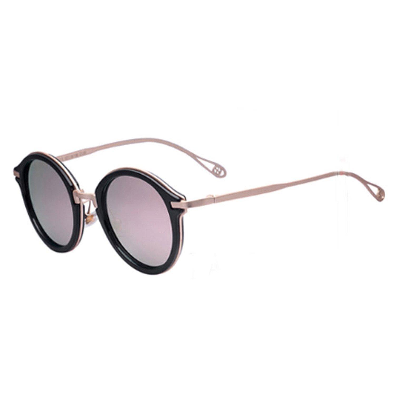 Karen Tina® gehörnten Rand Kreis Rahmen Sonnenbrille Color Flash ...