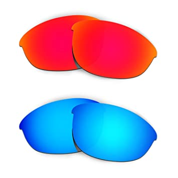 2f8af2bb44f HKUCO Mens Replacement Lenses For Oakley Half Jacket Sunglasses Red Blue  Polarized